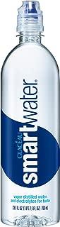 smartwater vapor distilled premium water bottle, 23.7 fl oz