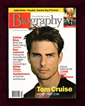 Biography Magazine, October, 1998. Tom Cruise cover. Celine Dion, Don Johnson, Jodie Foster, Houdini, Sandra Day O'Connor, Noel Coward, Alfred Hitchcock, et al