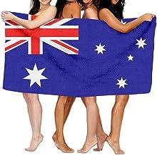 "Beach Towel Flag of Australia 80"" X 130"" Soft Lightweight Absorbent for Bath Swimming Pool Yoga Pilates Picnic Blanket Towels"