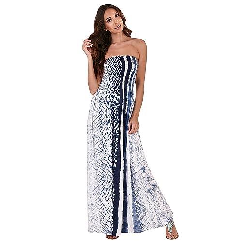 feb3003d27 Pistachio Womens Tie Dye Sleeveless Maxi Or New Ladies Summer Beach Swing  Dress