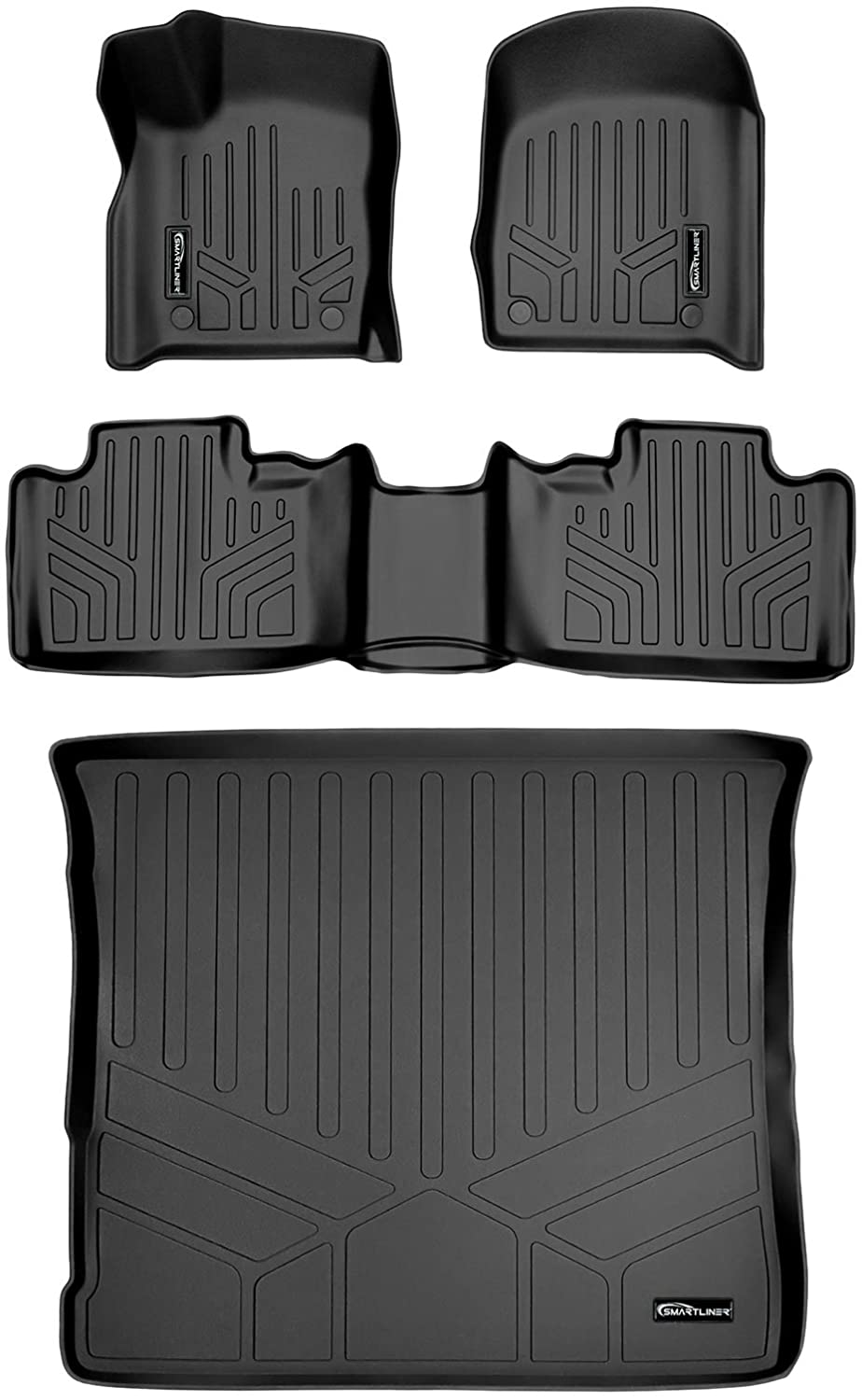 MAXLINER Floor Direct stock discount Mats 2 Rows and Cargo service for Liner 2016-20 Set Black