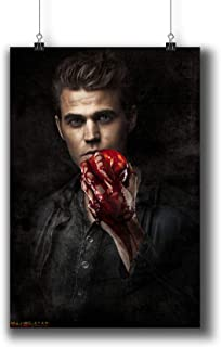 The Vampire Diaries TV Series Poster Small Prints 058-008 Stefan Salvatore Paul Wesley,Wall Art Decor for Dorm Bedroom Living Room (A4|8x12inch|21x29cm)