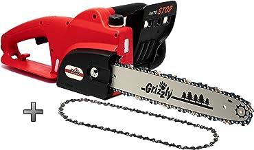 Motosierra eléctrica Grizzly EC 1800 W, espada 42 cm, longi