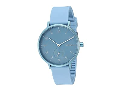 Skagen Aaren Kulor 36mm Three-Hand Silicone Watch (SKW2764 Light Blue Silicone) Watches