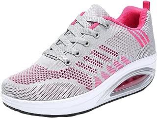 JARLIF Women's Comfortable Platform Walking Sneakers Lightweight Casual Tennis Air Fitness Shoes US5.5-10