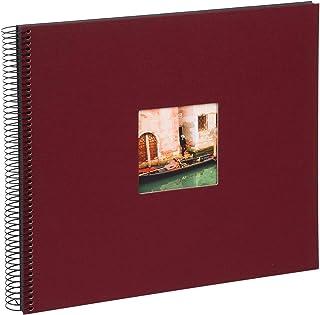 Goldbuch Album Photo à Spirales Bella Vista, Lin, Bordeaux, 35x30 cm