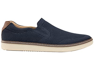 Johnston & Murphy McGuffey Slip-On Knit Sneaker (Black) Men