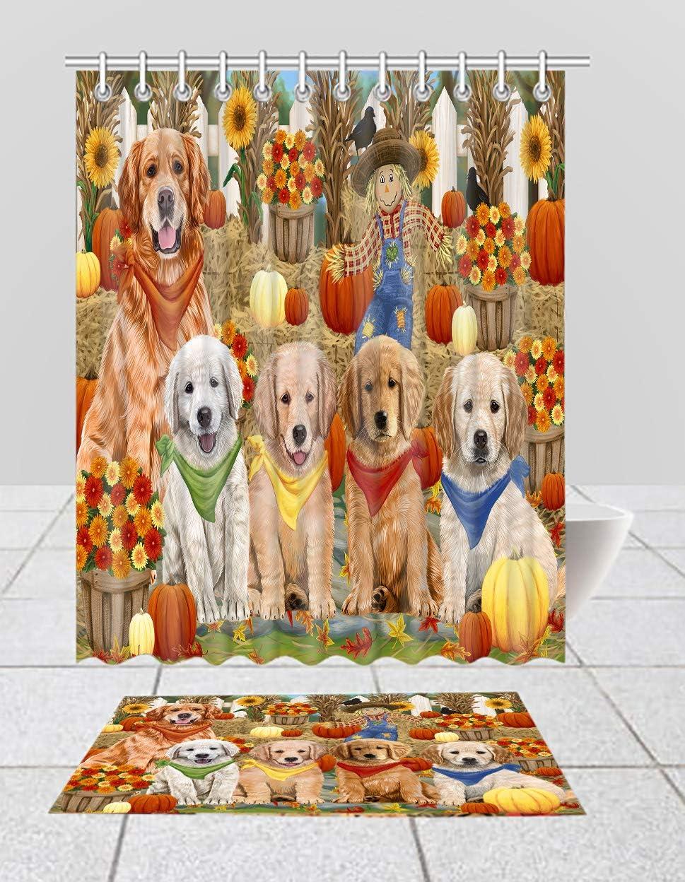 Fall security Festive Harvest Cheap Time Gathering Dogs Golden Shower Retriever