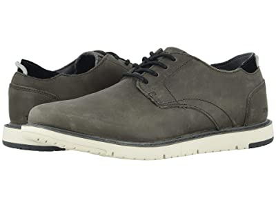 TOMS Navi Oxford (Charcoal Leather) Men