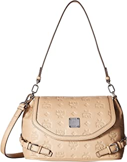 MCM Essential Monogrammed Leather Small Crossbody