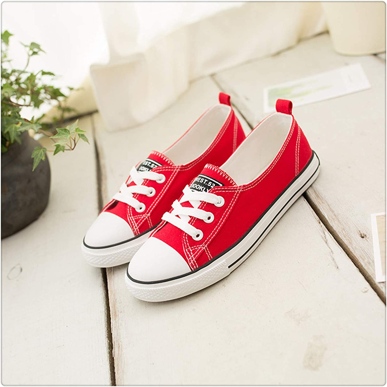 ANZLOU& Classic Canvas Shalllow Lace Up Women's Sneakers Heel Vulcanize shoes Walking