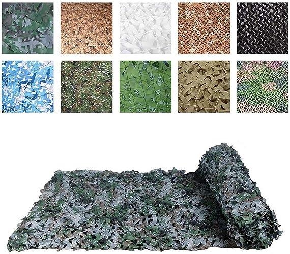 Auvent de terrasse Filet de Camouflage, Filet de Camouflage Militaire, Filet de Camouflage en Tissu Oxford   Housse de Camouflage Convient pour Camping de Chasse Caché, Une Variété Tailles et Couleurs