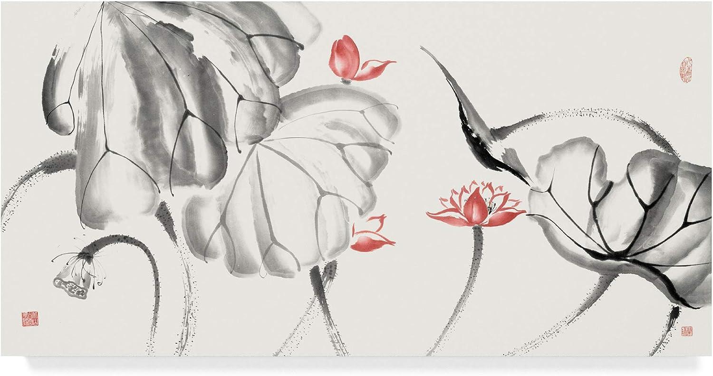 Trademark Fine Art Lotus Study with Coral III by Nan Rae, 10x19