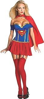 Secret Wishes Womens DC Comics Supergirl Corset Costume, Red
