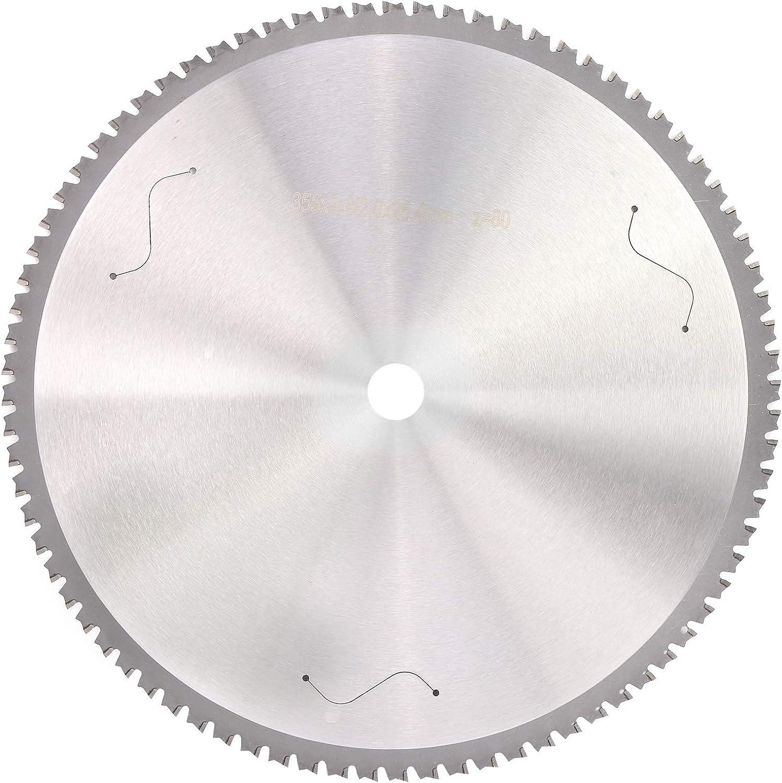 80 Dientes Cuchilla de Corte Circular, 355 mm Redondo Hoja de Sierra Disco de Sierra Circular Metal Disco Cortante Muela de Madera Formando Disco Rueda de Pulido para Amoladora Angular