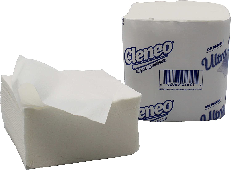 cheap Cleneo Premium Quality White Cut Pape Tissue Restaurant Toilet Max 80% OFF