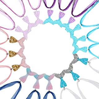 18 Stück Meerjungfrau Fischschwanz Halskette Fishtail Anhänger Halskette für Mädchen Party Supply Favor Geschenk