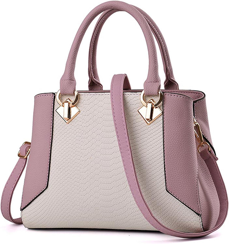 Leroyca Women Handbag PU Leather Zipper Crossbody Bags Original Design TopHandle Bags Tote