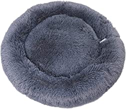 HOUTBY Dog Bed Super Soft Pet Sofa Cats Bed Non Slip Cashmere Round Pet Cushion Bed Self Warming Machine Washable