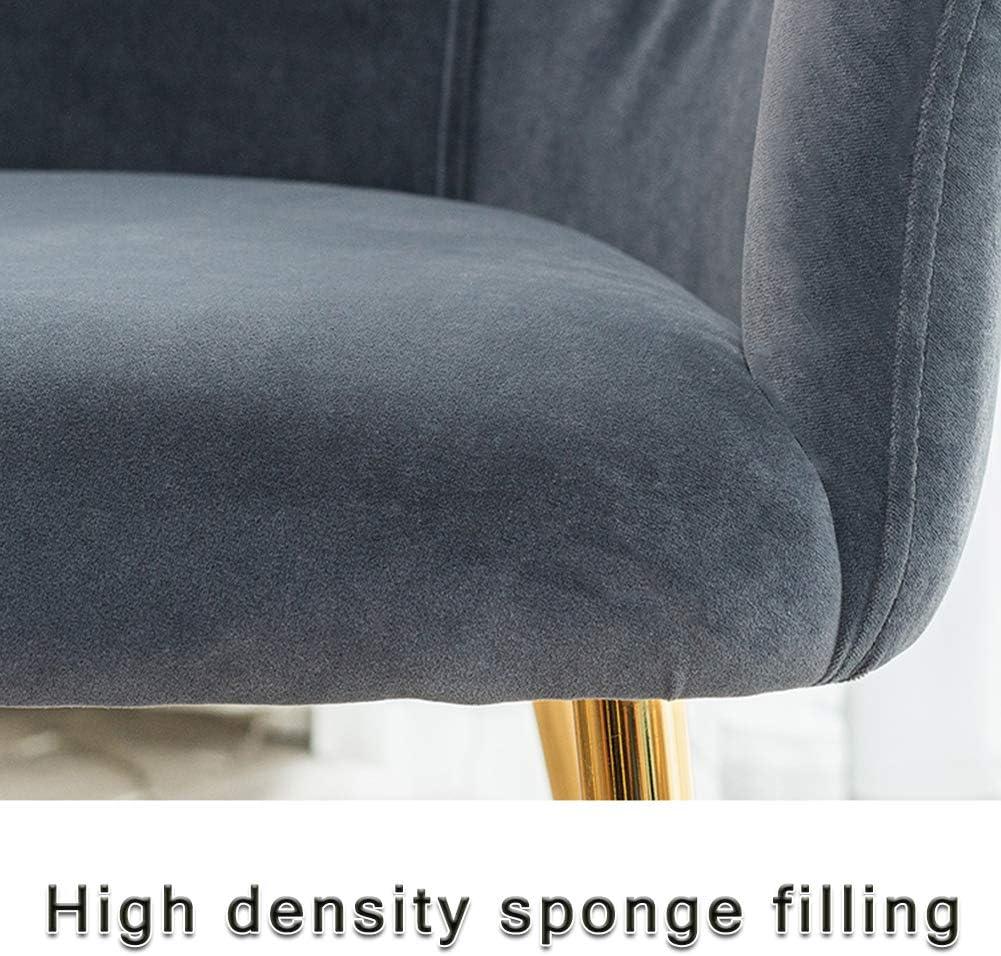 ZDY Chaise de Salle à Manger de Style Nordique Moderne de léger, Tabouret de Dossier décontracté, Pieds en Fer forgé, Restaurant/café/Bureau/Balcon Dark Blue-black Feet
