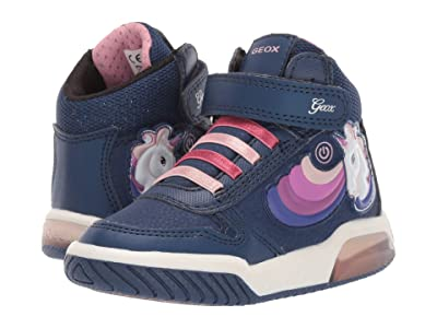 Geox Kids Jr Inek 2 (Toddler) (Navy) Girls Shoes