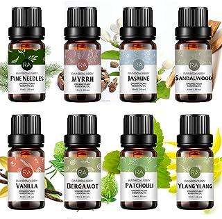 Top 8 Essential Oil Set 100% Pure Aromatherapy Oil (Sandalwood, Jasmine, Vanilla, Bergamot, Patchouli, Ylang Ylang, Pine N...