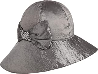 Made in Italy Fr/ühling-Sommer Lierys Kalena Glockenhut mit Schleife Damenhut Viskosehut Stoffhut Sonnenhut Damen