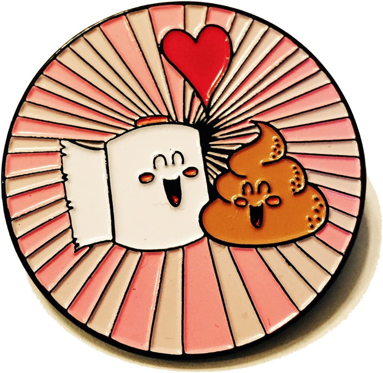 Metal Lapel Max 90% OFF Pin - Best Friend Toilet in Paper Philadelphia Mall Poop and Love