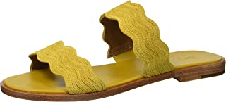 Frye Women's Mira Wave Slide Flat Sandal, Honey, 7 M US