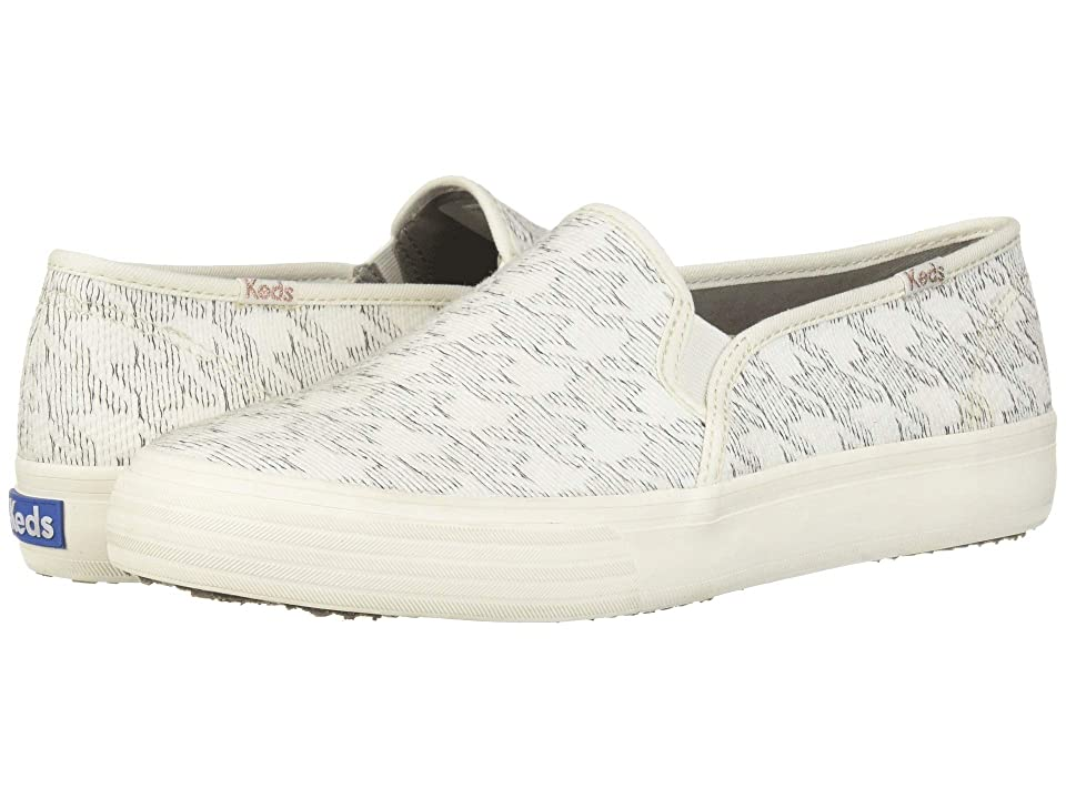 Keds Double Decker Houndstooth (White) Women