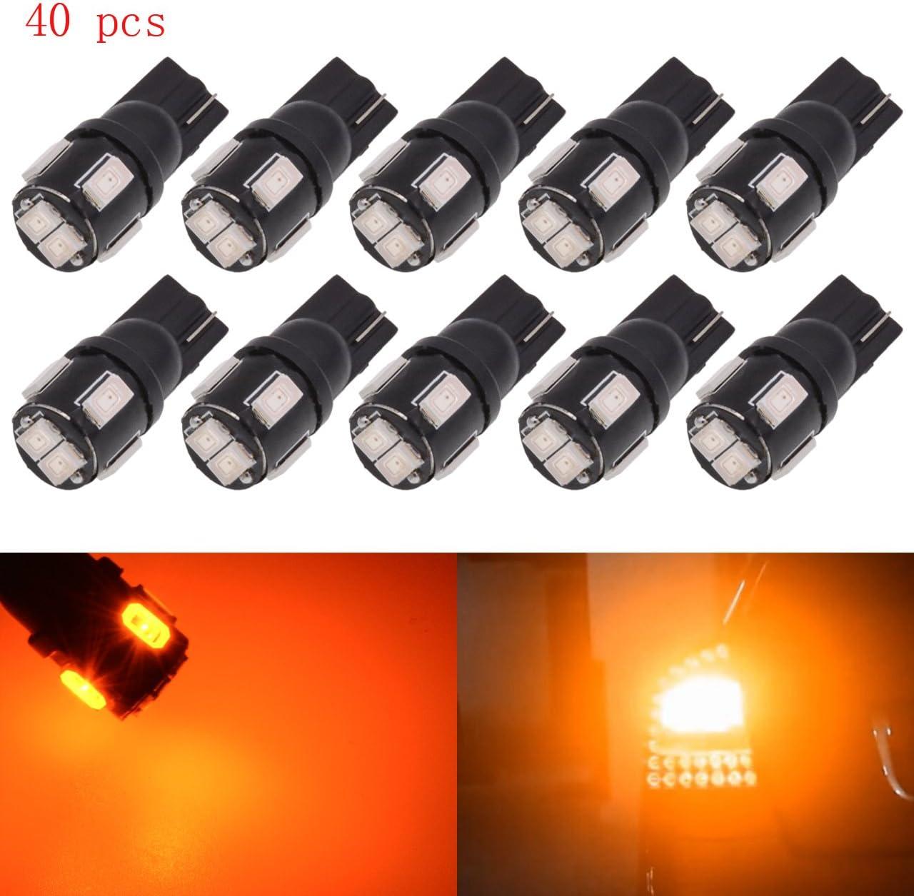 It is very popular KATUR 40pcs T10 Award-winning store LED Bulb Super Bright 168 194 17 2825 450 Lumens