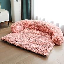 KingMSPG Zachte pluche hondenmat bank,Comfortabele hondenkussen mat hondenmatras verwijderbare wasbare hondendeken meubelh...