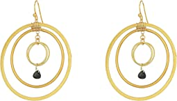Chan Luu - Triple Hoop Earrings with Single Semi Precious Stones