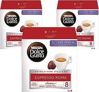 Nescafe Dolce Gusto Espresso Roma Capsules, 3 X 16 Capsules