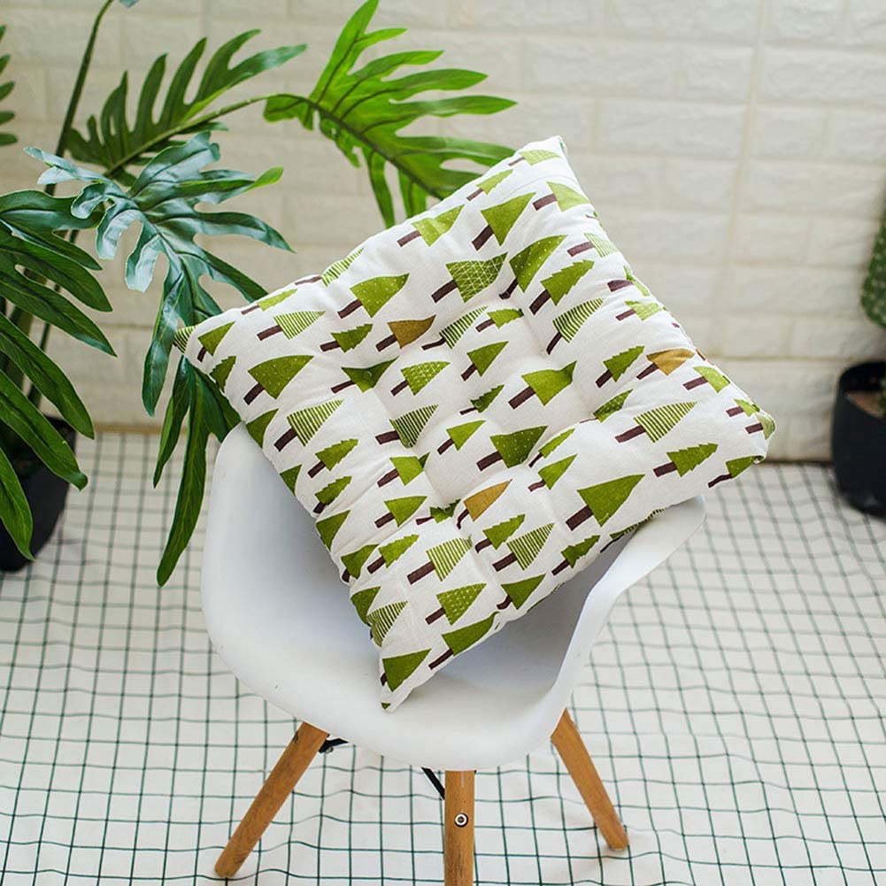 ANQI 2 Set Seat Pad Padded Chair Cushion with Ties 40 x 40 cm Well Filled Thick Lift Soft Touch Cotton Pads for Dining Office Home Sofa Chair