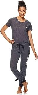 Womens Short Sleeve Shirt and Lounge Jogger Pajama Pants...