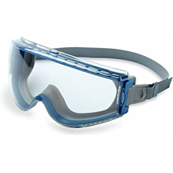 Uvex Stealth Safety Goggles with Clear Uvextreme Anti-Fog Lens, Teal & Gray Body & Neoprene Headband (S39610C)