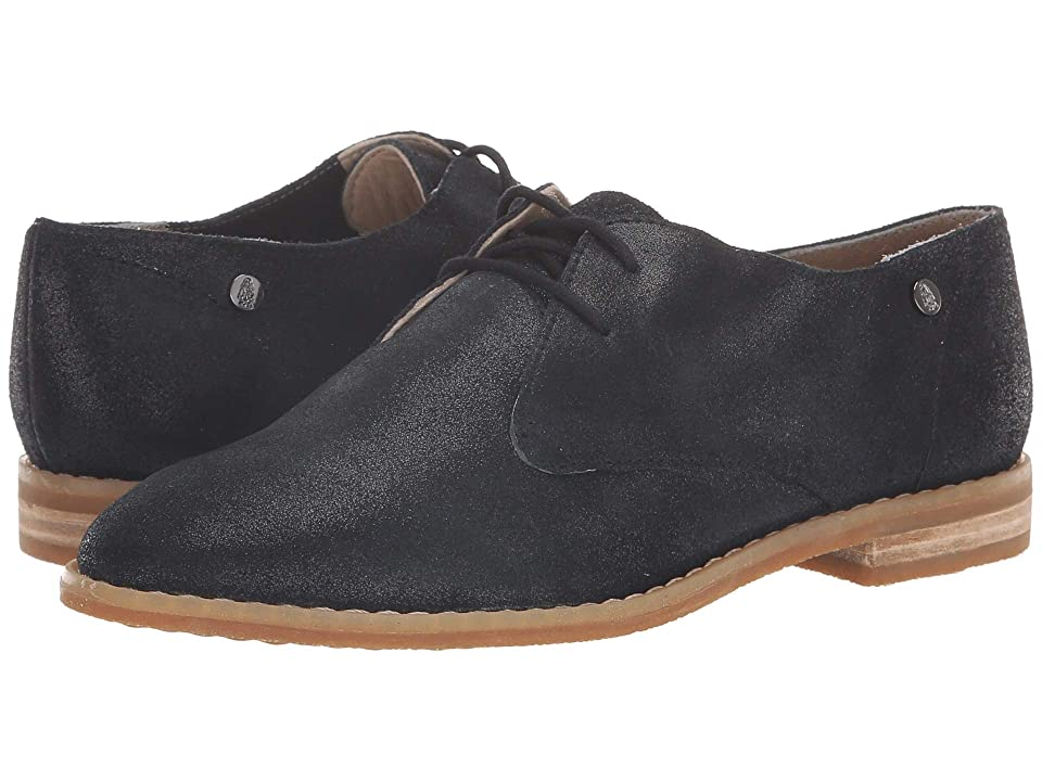 Hush Puppies Chardon Oxford (Black Metallic Suede) Women