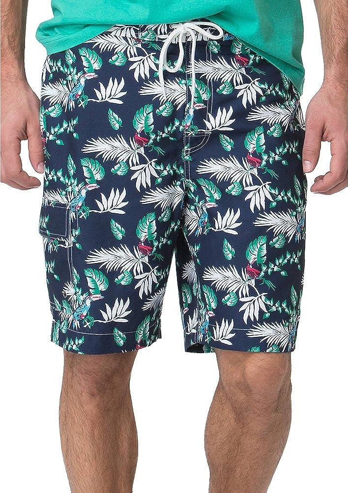 Chaps Polyester Boardshort Swimwear in Newport Navy