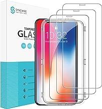 """Syncwire Verre Trempé pour iPhone 11 Pro/X/XS (5.8"""") [Lot de 3] avec Cadre d'installation et Kits, Film Protection Ecran Vitre HD Dureté 9H, sans Bulles, 3D-Touch, Incassable pour iPhone 11 Pro/X/XS"""