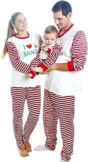 Matching Christmas Pajamas Family Soft Cotton Striped Sleepwear Clothes