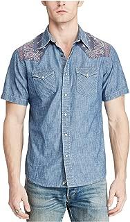 Denim & Supply Men's Slim Chambray Western Shirt (Blue)