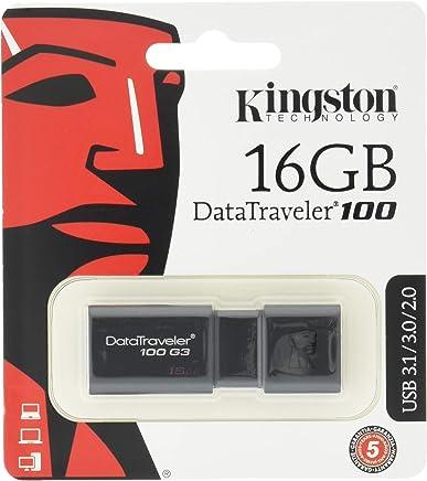 Kingston DT100G3/16 GB DataTraveler 100 G3, USB 3.0, 3.1 Flash Drive, 16 GB, Nero