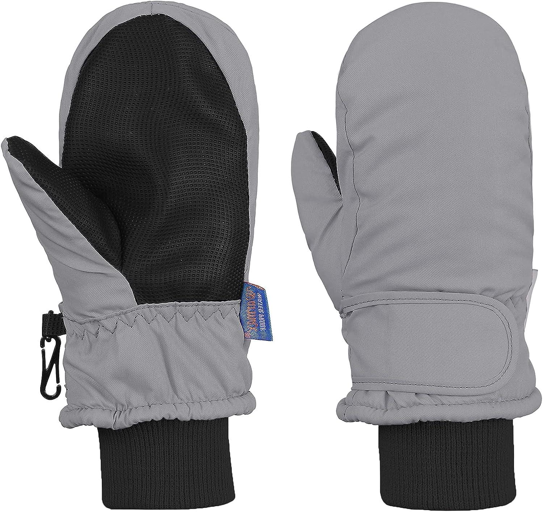 Toddler Mittens Boys Snow Waterproof Ski Mitten Fleece Warm Winter Kids Gloves for Baby Boy Girl