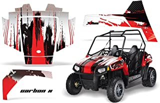 AMRRACING Polaris RZR 170 Youth All Years Full Custom UTV Graphics Decal Kit - Camoplate Red