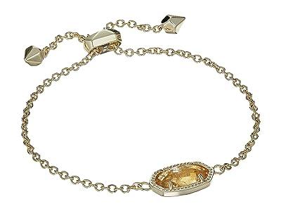 Kendra Scott Elaina Birthstone Bracelet (November/Gold/Orange Citrine Quartz) Bracelet