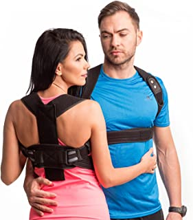 REDESIGNED Back Straightener Posture Corrector for Men-Upper Back Brace Posture for Women- Clavicle Brace Support-Body Wellness Posture Corrector Under Clothes-Spine Alignment (S-M(26