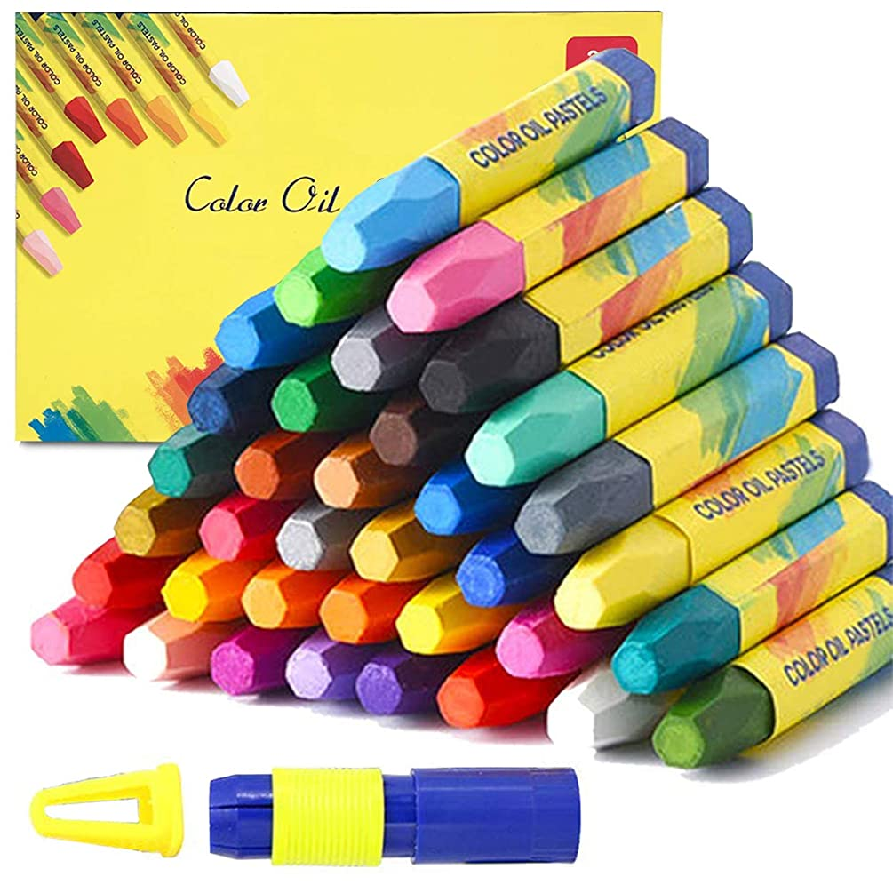 Magicdo 36 Colors Oil Pastels with Pastel Holders and Sharpeners, Non Toxic, Smooth Blending Texture