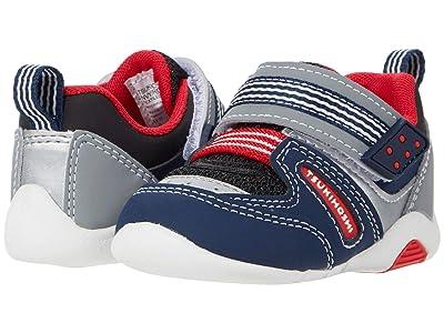 Tsukihoshi Kids Neko (Toddler) (Navy/Red) Boys Shoes