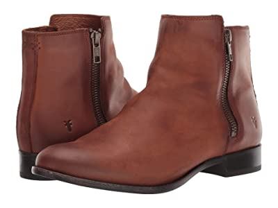 Frye Carly Double Zip (Cognac) Women